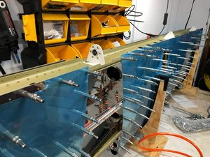 header image for Log: Horizontal Stabilizer - Clecoing parts together
