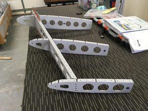 header image for Vertical stabiliser partial rivettng