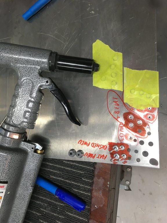 header image for Further comparisons on rivet head formation: custom flat vs dished nose-piece