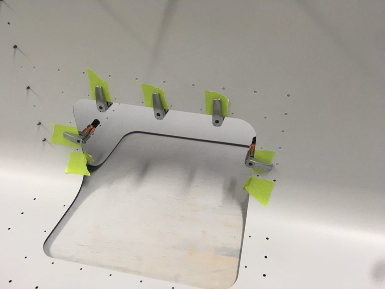 header image for Match drill RH leading edge holes for added taxi/landing lights