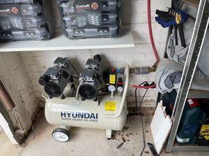 header image for 6June21 - Compressor and air line set up