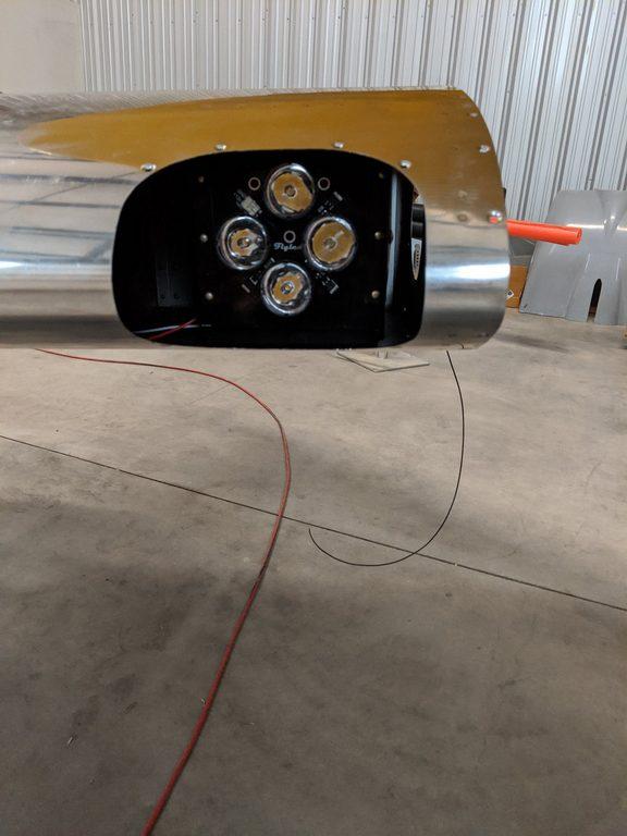 header image for Landing lights mounted