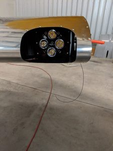 header image for Landing lights mounted