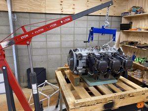 header image for Engine Uncrating