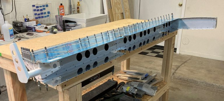 header image for Ribs And Front Spar Riveted